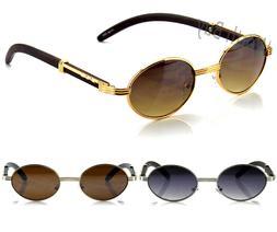 New Mens Womens Fashion Oval Sunglasses Vintage Retro Buffs