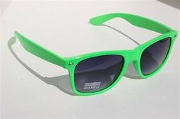 NEW Neon Green Sunglasses Vintage retro 80's black gradient