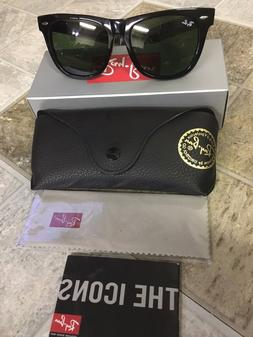 NEW Original Black Wayfarer Ray Ban Sunglasses RB2140 901 50