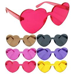 NEW Oversized Candy Color Heart Shaped Sunglasses Womens Cle