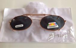 New, POLARIZED, Clip On Sunglasses, 47mm, Spring Adjusts, SH