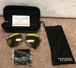 New Duduma Premium Full Set Mirrored Aviator Sunglasses #X00