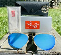 New Ray-Ban Aviator Classic RB3025 112/17 Sunglasses Gold Fr