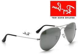 NEW Ray-Ban Aviator RB3025 W3277 SILVER Frame With SILVER MI