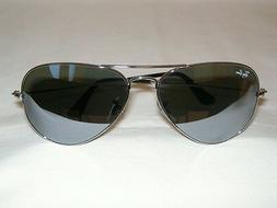 New Ray Ban AVIATOR Sunglasses Silver RB 3025 W3277 Silver M
