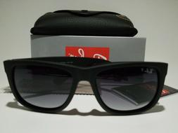 New Ray-Ban Justin POLARiZED RB4165 622/T3 Black/Grey Gradie