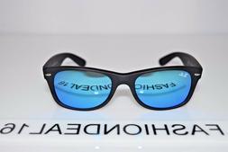 **New Ray-Ban New Wayfarer Black Blue Mirrored RB2132 622/17