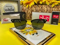 New Ray-Ban RB3016 W0365 Clubmaster Sunglasses Black Frame |