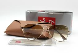 New Ray-Ban RB3025 001/51 Gold/Brown Gradient Aviator Sungla