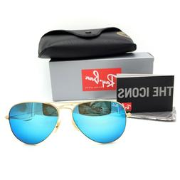 New Ray-Ban RB3026 112/17 Gold Aviator Sunglasses w/ Mirrore