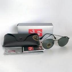 New Ray-Ban RB3447 029 Gunmetal/Green Classic G-15 Round Sun