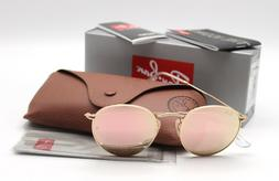 New Ray-Ban RB3447 112/Z2 Gold/Copper Flash  Round Sunglasse