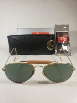 New RAY BAN Sunglasses AVIATOR  OUTDOORSMAN Gold  RB 3030 L0