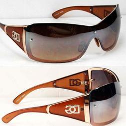 New Shield Womens Designer Sunglasses Fashion Shades Wrap Ar
