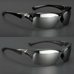 New Tundra Silver Mirrored Lens Wrap Design Mens Womens Spor