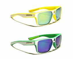 Biohazard Sport Mirror Sunglasses For Men & Women With Soft