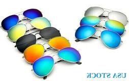 New Sunglasses Aviator Men Women Vintage Color Mirrored Meta