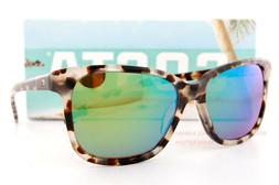 New Costa Del Mar  Sunglasses MAY Shiny Tiger Cowrie Green M