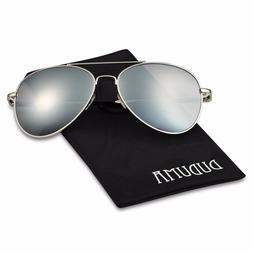 New Sunglasses Duduma Premium Full Mirrored Aviator W/ Flash