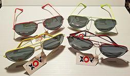 New VOX Trendy Fashion Pilot Aviation Hot Neon Eyewear Youth