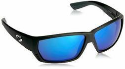 NEW Costa Del Mar Tuna Alley Matte Black / Blue Mirror 580G