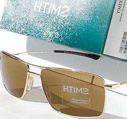 NEW* SMITH OPTICS TURNER Aviator Squared GOLD w Brown Lens S