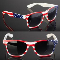 New USA American Flag Retro Vintage Black Fashion Sunglasses