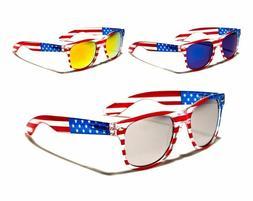 USA American Flag Retro Sunglasses Mirror Sport Fashion For