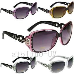 New DG Eyewear Womens Rhinestones Sunglasses Designer Shades