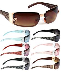 New WB Eyewear Womens Wrap Oval Rectangular Sunglasses Desig