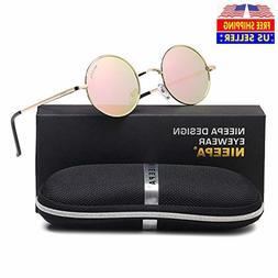 NIEEPA John Lennon Vintage Round Polarized Hippie Sunglasses