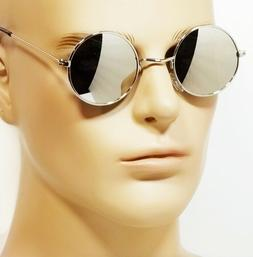 nwt retro round hippie sunglasses mirror lens
