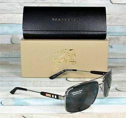 NWT Burberry Sunglasses BE 3074 1003/87 Gunmetal / Gray 63 m