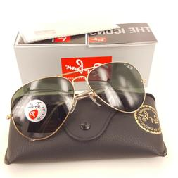 Original  Ray-Ban Aviator Green Polarized  Lense Gold Sungla