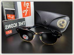 Original Ray Ban RB3016 Clubmaster Sunglasses w/Polarized Le
