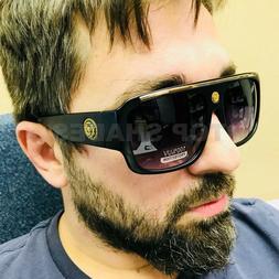 Men Sunglasses Hip Hop New Big Fashion Design Women Black Br