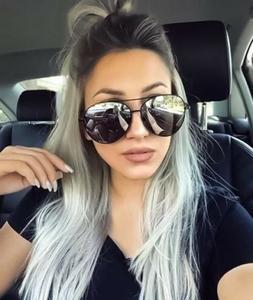 Oversized Aviator Mirrored Sunglasses Large Silver Mirror Le