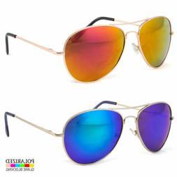 Oversized Extra Large Aviator Polarized Sunglasses Silver Mi