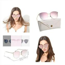 Oversized Mirrored Sunglasses for Women, Cat Eye Sunglasses,