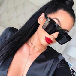 Oversized Square Sunglasses Women Retro Rice Nail Sun Glasse