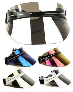 OVERSIZED XL SHIELD WRAP AROUND HEADBAND VISOR SUNGLASSES RE