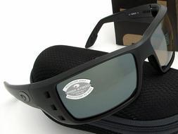 Costa Del Mar Permit Men's Polarized Sunglasses, Blackout/Si