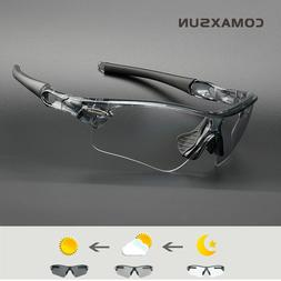 Comaxsun Photochromic Cycling Glasses Discoloration Sunglass