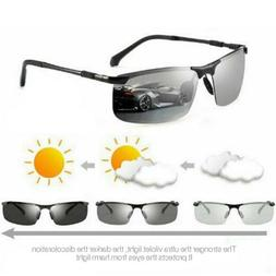 Photochromic Polarised Sunglasses UV400 Polarized Fishing Dr