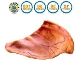 Pig Ears for Dogs | Quality Large Pork Dog Chews by 123 Trea