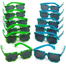 Katzco Pixel Sunglasses, Birthday Party Favors for Kid's and