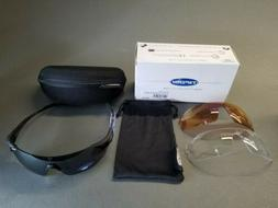 Podium XC, Matte Black Sunglasses with 3 interchangable lens