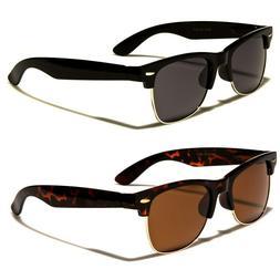 Polarized Classic Vintage Sunglasses Mens Womens Metal Half