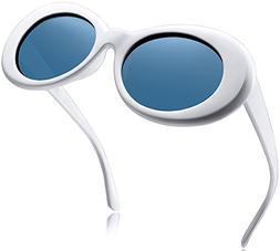 Joopin Polarized Clout Sunglasses Women Men Bold Retro Oval