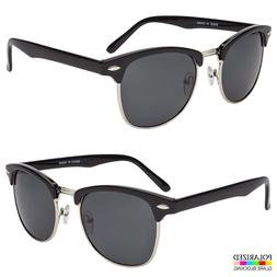 Polarized  Sunglasses Men Women Vintage Designer Metal Half